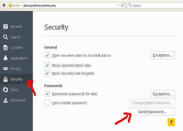 Recover Forgotten MSN Password from Firefox Saved Logins