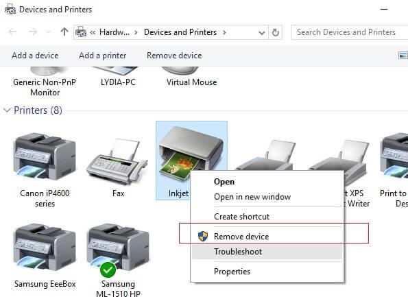 Remove Epson Printer Drivers