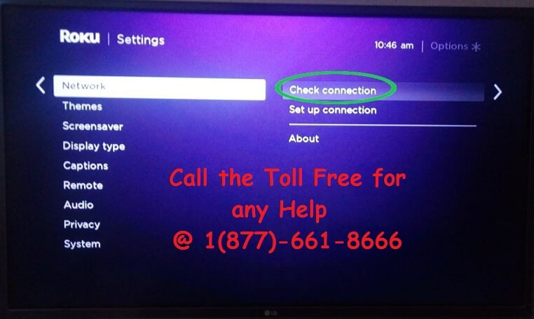 Check the Network Connection on Roku