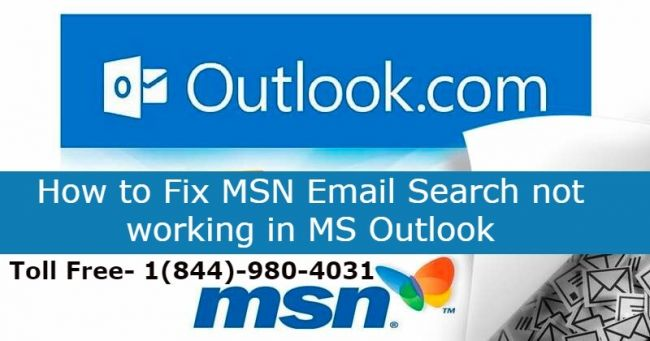Fix MSN Email Search not working in MS Outlook