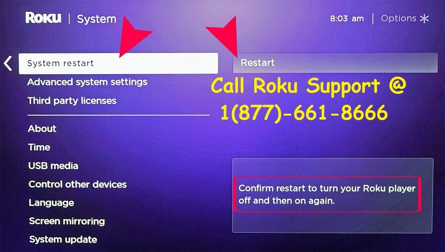 Restart Roku If Unable to connect to wireless network on Roku